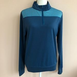 Anna Lane Womens S  1/4 Zip Long Sleeve Pullover